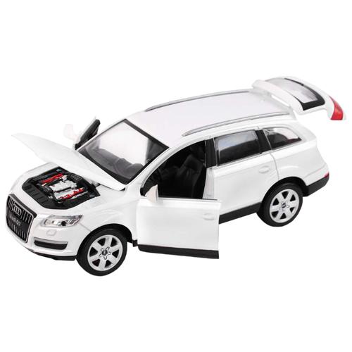 Купить Легковой автомобиль Автопанорама Audi Q7 (JB1200118) 1:24 20.5 см белый, Машинки и техника