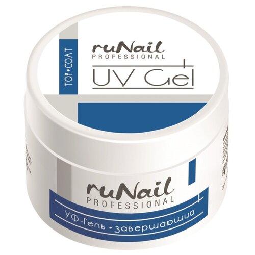 Runail Professional верхнее покрытие Top Coat UV Gel 15 мл прозрачный irisk professional верхнее покрытие rubber top no cleanser 18 мл прозрачный