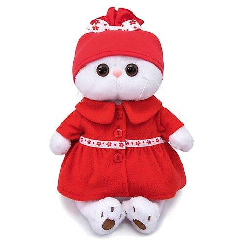 Мягкая игрушка Basik&Co Кошка Ли-Ли в красном пальто 24 см