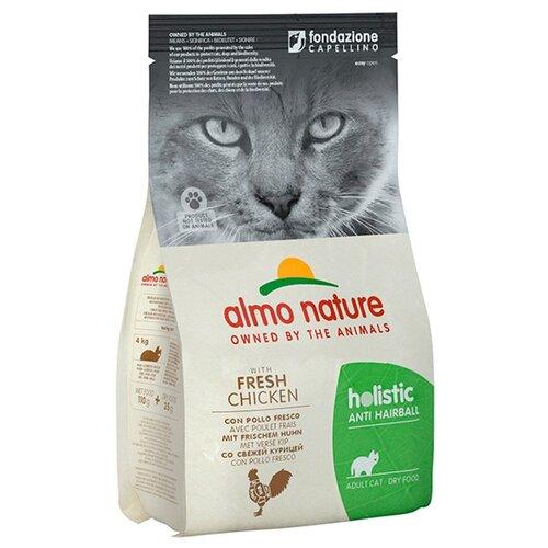 Сухой корм для кошек Almo Nature Holistic, для вывода шерсти, с курицей, с рисом 400 г