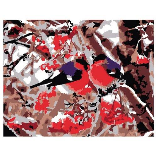 Купить Molly Картина по номерам Снегири 15х20 см (G-S019), Картины по номерам и контурам