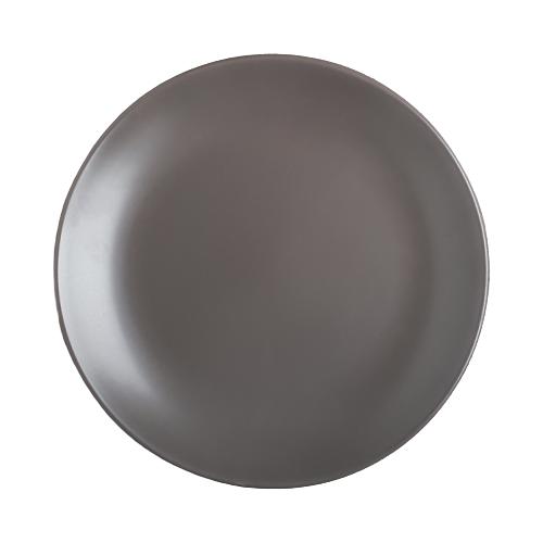 Доляна Тарелка обеденная Пастель 27 см коричневый