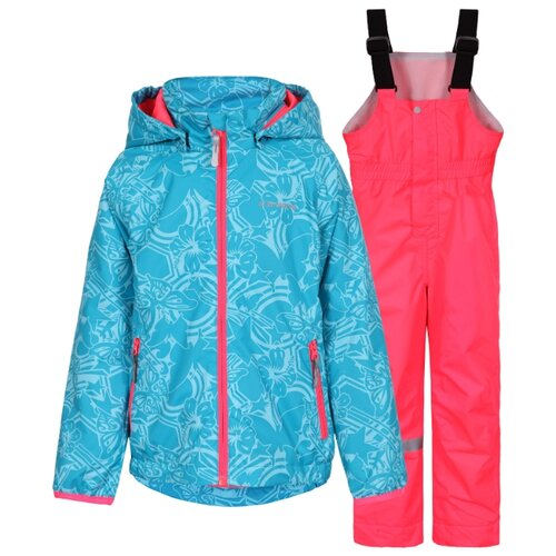 Комплект с полукомбинезоном ICEPEAK размер 92, голубой/розовыйКомплекты верхней одежды<br>