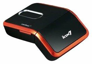 Мышь ICON Twister 1000 Black-Orange USB