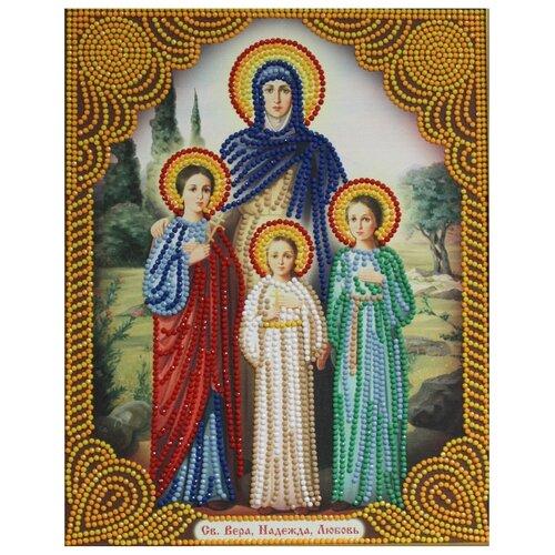 Алмазная живопись Набор алмазной вышивки Икона Вера, Надежда, Любовь (АЖ-5016) 22x28 см