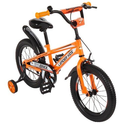 Детский велосипед Leader Kids G16BD701 оранжевый (требует финальной сборки)Велосипеды<br>