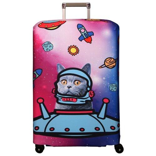 Чехол для чемодана ROUTEMARK Ракета SP180 L/XL, розовый чехол для чемодана routemark inmotion размер m l 65 74 см