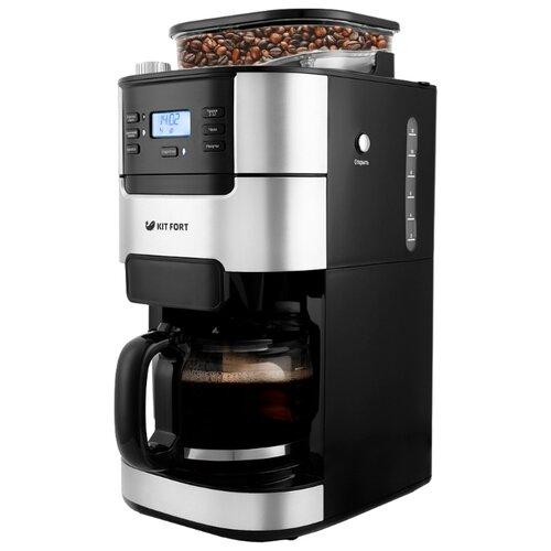 Кофеварка Kitfort KT-720 черный/серебристый