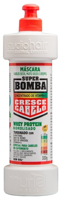 Muriel SUPER BOMBA маска для роста волос, уход за нормальными волосами