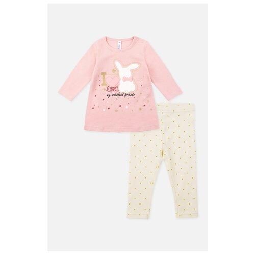 Комплект одежды playToday размер 56, розовый/белый