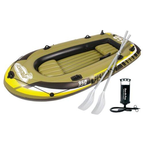 Надувная лодка Jilong Fishman 350set JL007209-1N зелено-черный велогибрид kupper unicorn зелено черный