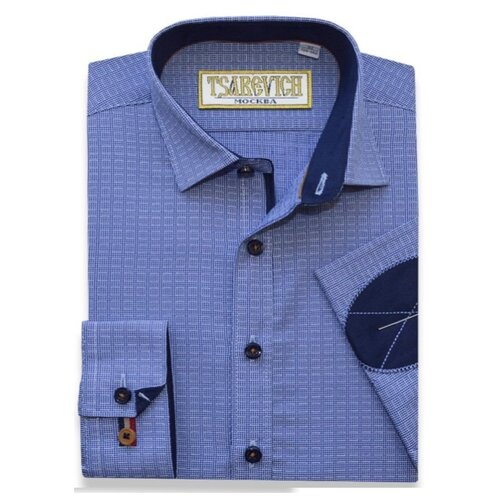 Купить Рубашка Tsarevich размер 30/122-128, синий, Рубашки
