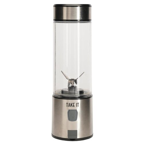 Портативный блендер Take It X4, серый/серебристый