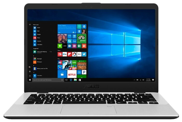 "Ноутбук ASUS VivoBook 14 X405UA (Intel Core i3 6006U 2000 MHz/14""/1920x1080/4GB/1000GB HDD/DVD нет/Intel HD Graphics 620/Wi-Fi/Bluetooth/Windows 10 Home)"