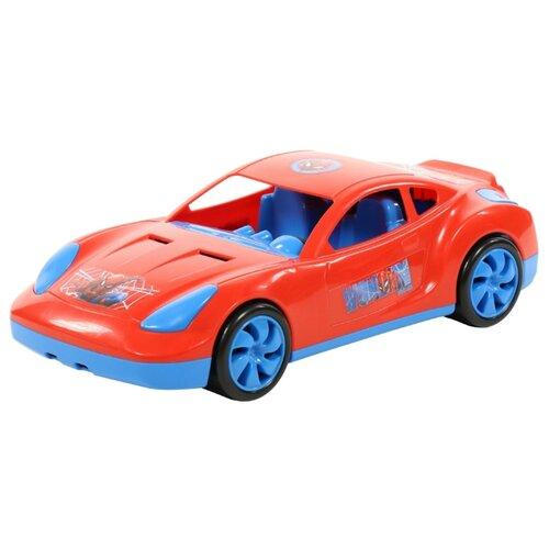 Купить Легковой автомобиль Полесье Мстители Человек-паук в коробке (71224) 36.6 см красный, Машинки и техника