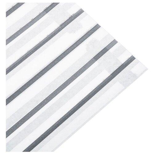 """Бумага упаковочная Дарите счастье """"Графитовая полоска"""" 0,68 х 10 м белый/серый"""