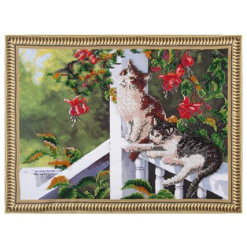 Color Kit Набор для вышивания бисером Котята в саду color kit