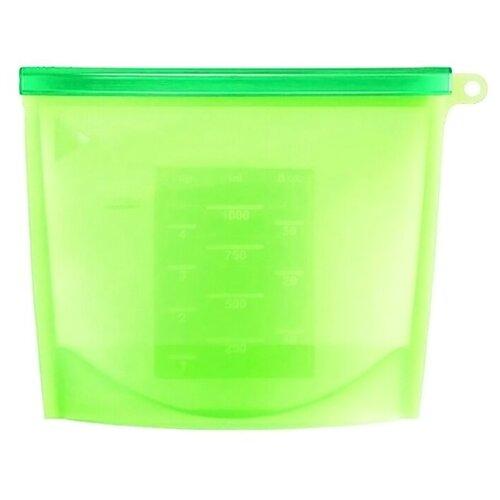 Пакеты для хранения продуктов Dom , 18 см, 1 л, зеленый
