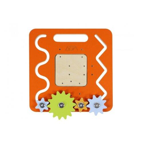 Бизиборд Занятный дом Дорожный оранжевыйРазвитие мелкой моторики<br>