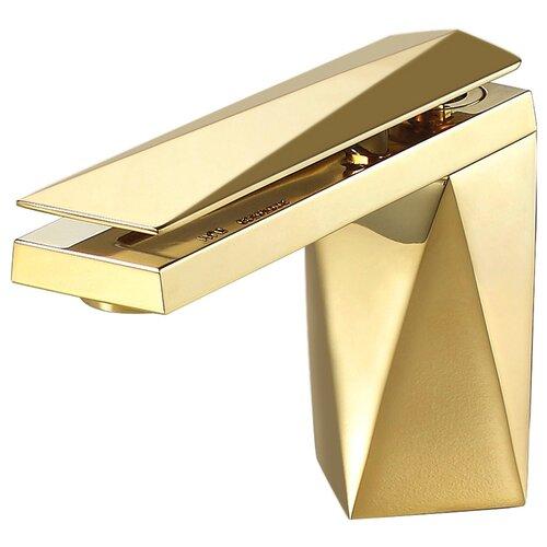 Смеситель для раковины (умывальника) Bravat Diamond 118102G-1 однорычажный золотой смеситель для умывальника раковины коллекция iceberg f176110g однорычажный золото bravat брават