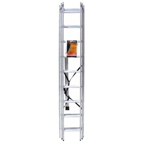 Лестница трансформер 3-секционная ВИХРЬ ЛА 3х9 лестница трехсекционная вихрь ла 3х12