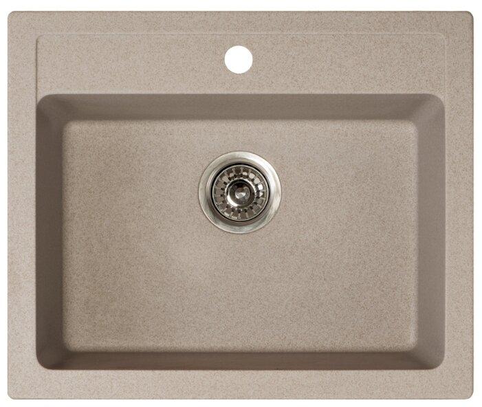 Врезная кухонная мойка ORIVEL Quadro 60 60х50см полимер