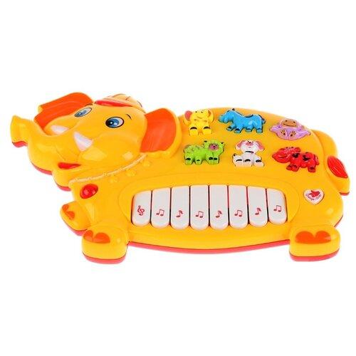 Купить Умка пианино B1084060-R желтый, Детские музыкальные инструменты