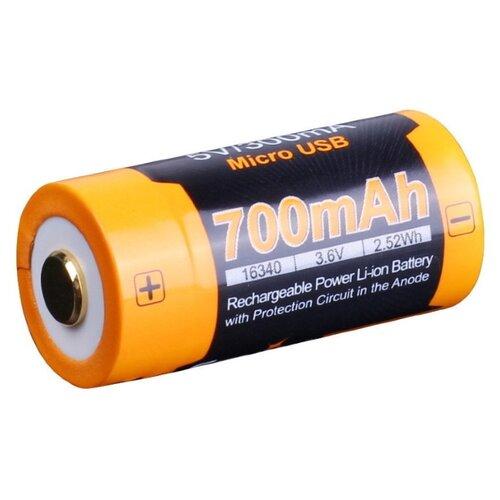 цена на Аккумулятор Li-Ion 700 мА·ч Fenix 16340 ARB-L16-700U 1 шт