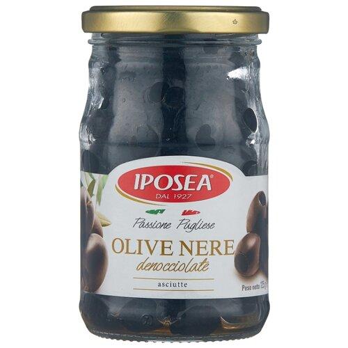 Iposea Маслины без косточки, стеклянная банка 125 г corrado маслины крупные отборные без косточки 300 г
