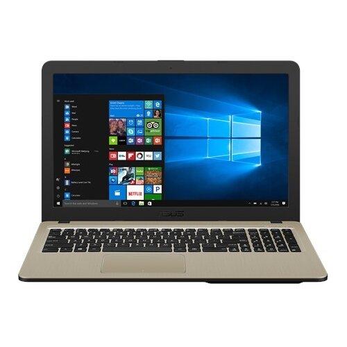 Купить Ноутбук ASUS VivoBook 15 X540MA-GQ120 (Intel Pentium N5000 1100MHz/15.6 /1366x768/4GB/500GB HDD/DVD нет/Intel UHD Graphics 605/Wi-Fi/Bluetooth/Endless OS) 90NB0IR1-M03640 черный/золотой