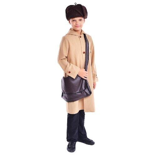 Купить Костюм ПТИЦА ФЕНИКС Почтальон Печкин (P0207), бежевый, размер 122-128, Карнавальные костюмы