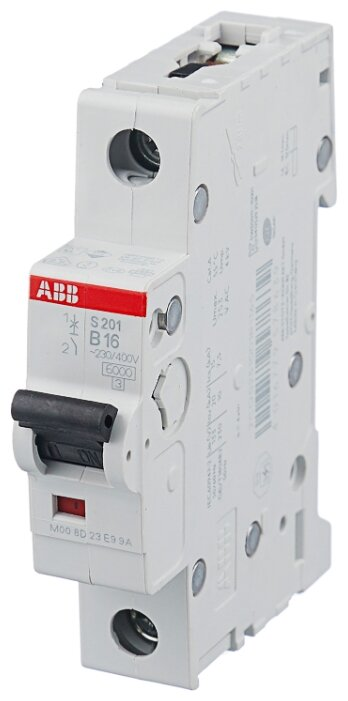Автоматический выключатель ABB S201 1P (B) 6kA