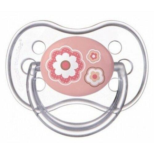 Купить Пустышка силиконовая классическая Canpol Babies Newborn Baby 0-6 м (1 шт) розовый, Пустышки и аксессуары