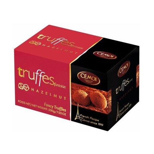 Набор конфет Cemoi Truffes Fantaisie с карамелизированным лесным орехом, 200 г красный/черный