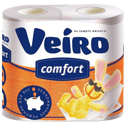 Купить Туалетная бумага Veiro Comfort белая двухслойная 4 рул.