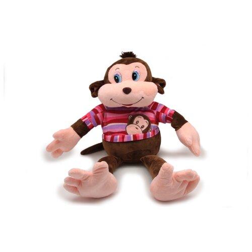 Фото - Мягкая игрушка Magic Bear Toys Мягкая игрушка Обезьяна Тихон в свитере цвет одежды розовый 30 см мягкая игрушка лесята ёжик игоша в свитере 15 см