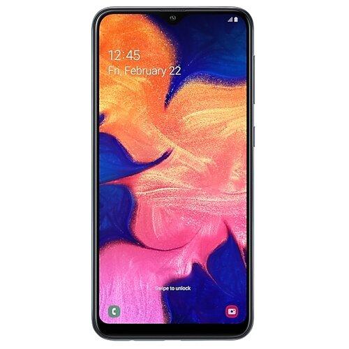 Смартфон Samsung Galaxy A10 черный (SM-A105FZKGSER) смартфон samsung galaxy s8 64 гб желтый топаз sm g950fzddser