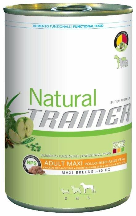 Корм для собак TRAINER Natural Adult Maxi Chicken, Rice and Aloe Vera canned (0.4 кг) 1 шт.