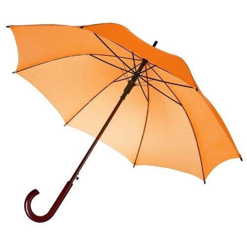 Фото - Зонт-трость полуавтомат Unit Standard (393) оранжевый зонт трость полуавтомат три слона 1100 бордовый