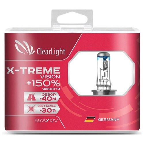 Лампа автомобильная галогенная ClearLight X-treme Vision +150% MLH1XTV150 H1 12V 55W 2 шт. недорого