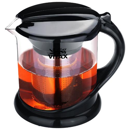 Фото - Vitax Заварочный чайник Alnwick VX-3304 1 л, прозрачный/черный заварочный чайник vitax belsay 1 л vx 3203