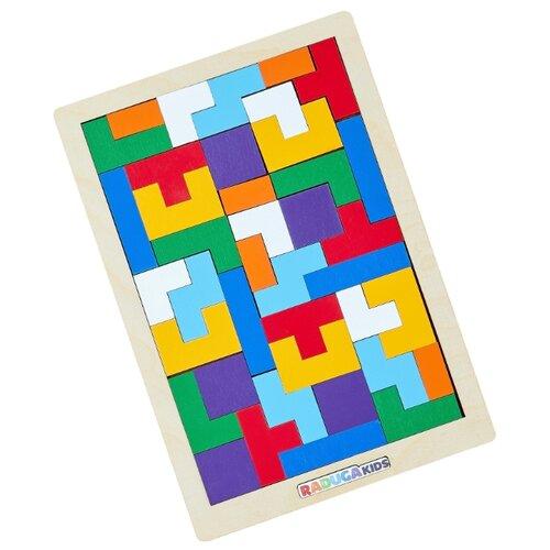 Купить Головоломка Raduga Kids Тетрис голубой/желтый/зеленый, Головоломки
