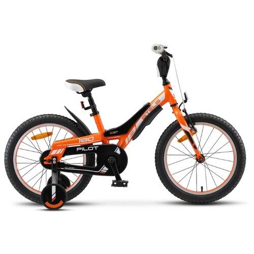 цена на Детский велосипед STELS Pilot 180 18 V010 (2020) оранжевый 10.5 (требует финальной сборки)