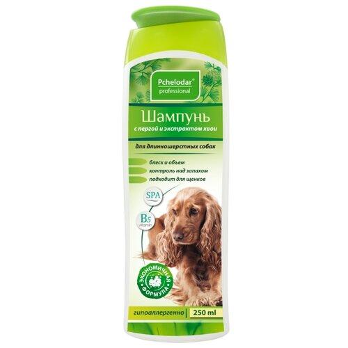 Шампунь Пчелодар с пергой и хвоей для длинношерстных собак 250мл шампунь для животных пчелодар 63290