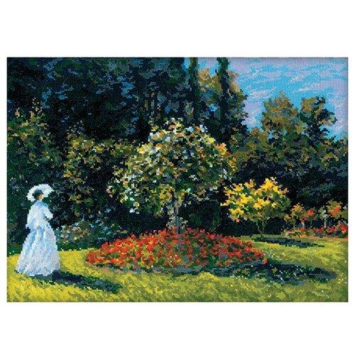 Купить Риолис Набор для вышивания Дама в саду по мотивам картины К.Моне 40 х 30 см (1225), Наборы для вышивания