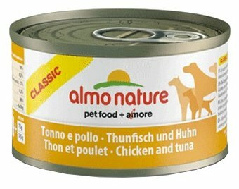 Корм для собак Almo Nature Classic тунец, курица 95г