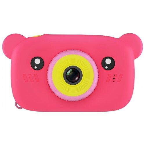 Фотоаппарат GSMIN Fun Camera Bear со встроенной памятью и играми розовый