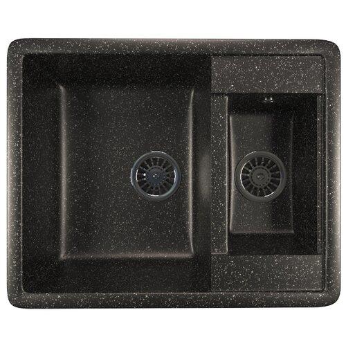 Фото - Врезная кухонная мойка 60 см Mixline ML-GM21 черная 308 врезная кухонная мойка 57 см mixline ml gm17 темно серая 309
