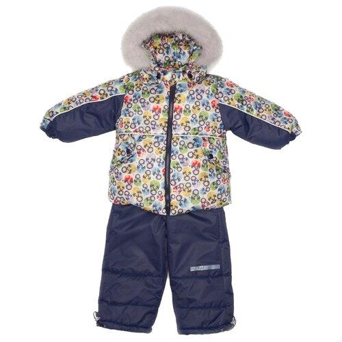 Купить Комплект с полукомбинезоном MaLeK BaBy размер 92, синий, Комплекты верхней одежды