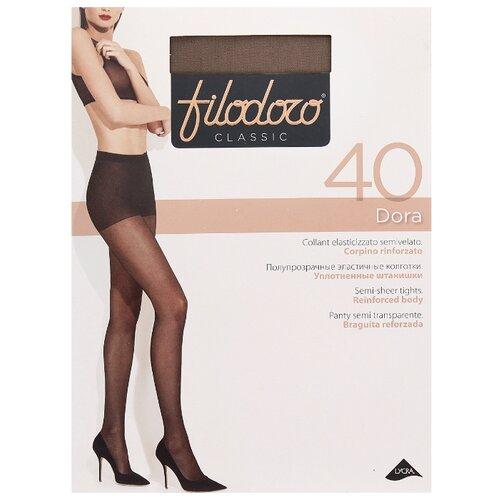 Колготки Filodoro Dora 40 den, размер 5-XL, glace (коричневый) колготки filodoro classic dora 20 den размер 5 xl glace коричневый